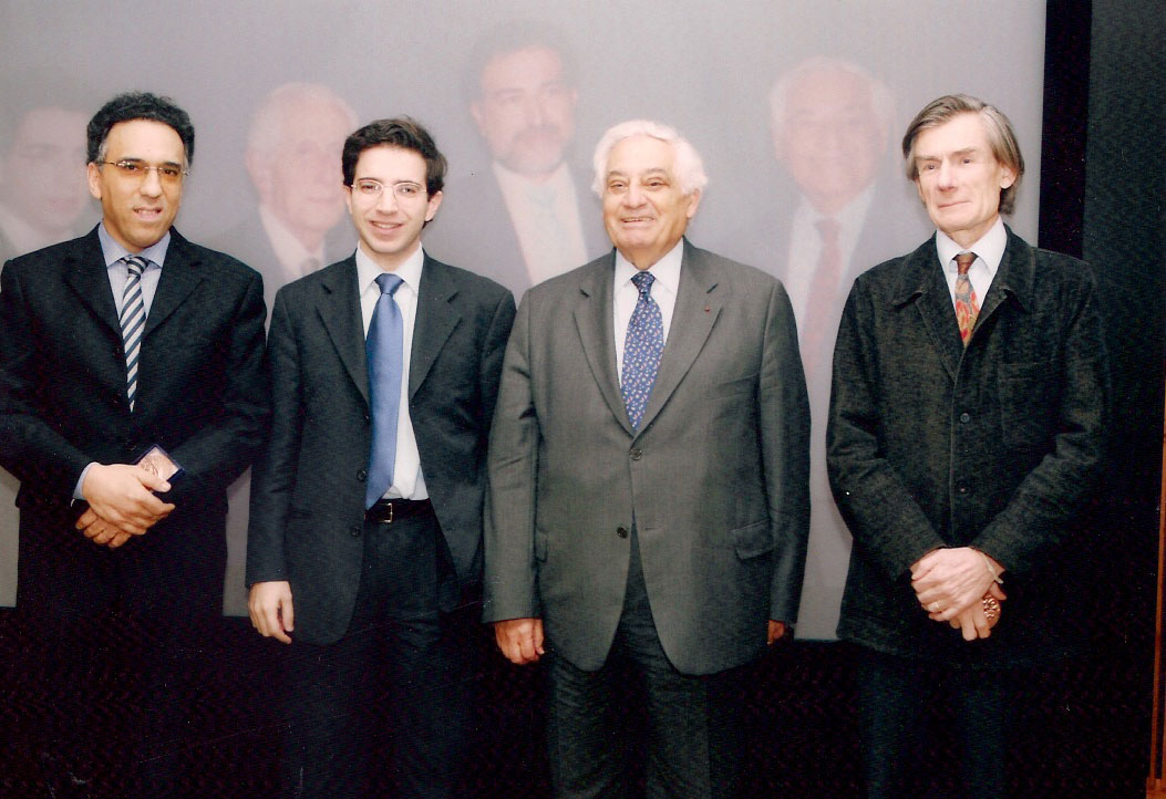 photo avec Chérif Majdalani et Olivier Germain-Thomas.